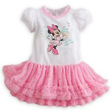 DISNEY STORE MINNIE MOUSE FRILLY TUTU DRESS BABY 9/12 MOS RUFFLED TULLE COLLAR