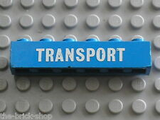 LEGO VINTAGE brick with TRANSPORT Pattern ref 3009p02 set 334 Truck with Flatbed