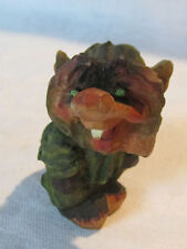 Vintage hand carved Henning wooden troll from Norway