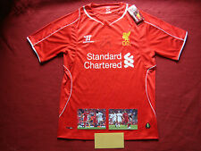 LIVERPOOL LAZAR MARKOVIC AUTHENTIC HAND SIGNED 2014-15 SHIRT - BNWT- SMALL - COA