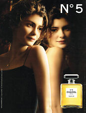 PUBLICITE ADVERTISING 014   2011   CHANEL  parfum n°5 AUDREY TAUTOU