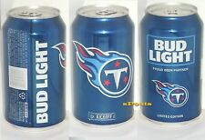2016 TENNESSEE TITANS BUD LIGHT NFL KICKOFF BEER CAN TN FOOTBALL SPORTS MAN CAVE