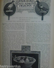 Old Edwardian Antique Article 1901 Racing Homing Pigeon Flying Club Kings Royal