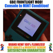 Nintendo Game Boy Color GBC Frontlight Front Light Frontlit Mod Teal MINT NEW