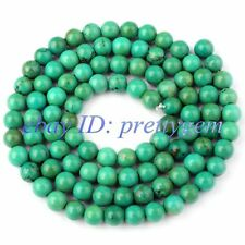 """4MM SMOOTH ROUND SHAPE NATURAL OLD TURQUOISE GEMSTONE SPACER BEADS STRAND 15"""""""