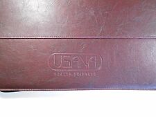 USANA Health Sciences Brown Leather Effect 3 Ring Binder / Organiser / RARE !!!