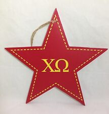 """Chi Omega Star Decorative Wall Plaque Sorority College Dorm Decor 9-1/2"""""""