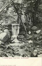 1901-1907 Postcard; A Secret Nook, Waterfall at Lake Park, Milwaukee WI Unposted