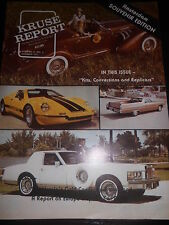 Zeitschrift Kruse Report Nr.3 1977 Auto Car Porsche Blower Bentley Cadillac