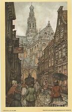 Anton Pieck Jansstraat Haarlem Print 1971 printed in Holland