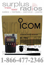 Icom IC R6 Handheld Portable Receiver Police Fire EMS Scanner 0.1-1999MHz