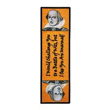 "Bookmark Sew-On Patch Shakespeare ""Battle of Wits"" Quote Theatre Craft Accessory"
