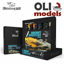AIRCRAFT EFFECTS Weathering Oil Paint Set 6x20ml Tubes - Abteilung 502 ABT-305