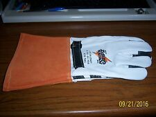 Leather Work Gloves Linemen/Electrician/Welding Leather Gloves  Power Gripz