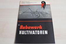 144292) Rabewerk - Schlepper Kultivator - Prospekt 09/1954