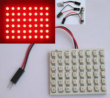 Red Car Interior Light Panel 48 LED SMD + Adapters New