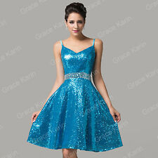 Teens Sequins Formal Evening Party Gown Masquerade Grad Short Prom Dance Dress