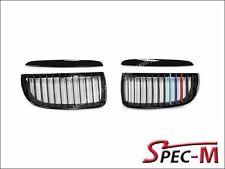 /// M Tri Color Shiny Black Front Kidney Grille For BMW E90 328i 335i 2006-2008