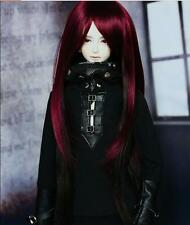 "1/3 8-9"" Dal Pullip BJD DZ DOD LUTS dollfie Doll Red black wig hair E62/ barbie"