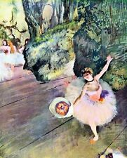 A3 Box Canvas Dancer with a bouquet of flowers The Star of the ballet Degas