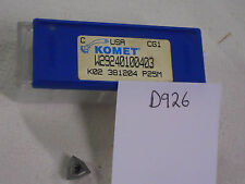 10 NEW K02 381204 KOMET CARBIDE INSERTS. W29 24010.0403 GR: P25M USA MADE {D926}