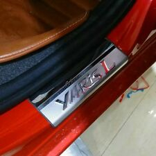 4Pcs Stainless Steel High Quality Door Sill Scuff Plate For Toyota Yaris 2014-15