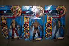 SET OF 3 WWF SUPERSTARS: WRESTLEMANIA XVII THE ROCK, TAKER AND V2J