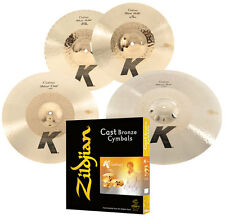 "Zildjian Kch390 K Cymbal Hybrid Box Set 14""Hi-Hats 17"" Crash & 21"" Ride - Used"