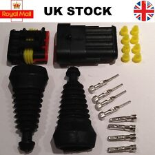 4 Pin Way Superseal TYCO AMP Waterproof Connector Electrical and Kit Rubber Boot