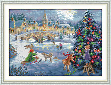 A Christmas celebration DIY Needlework Cross Stitch Kit Embroidery Kits Painting