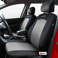 Seat covers universal full set  fit Skoda Fabia silver/black - Sport Line