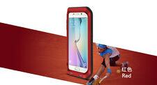 Love Mei Metallgehäuse Samsung Galaxy S6 Edge Plus spritz Wasserdicht Schutz rot