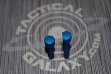 BLUE ANODIZED Extended Takedown /pivot Pins Front & Rear 223 300aac 5.56 6.8 spc
