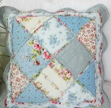 Shabby Chic Cushion Throw Pillow Cover Sham Blue Pink White Cream 45cm
