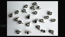 20 pcs of Platinum Toned Bail Beads, fits 3mm Dia Cord