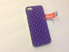 Frame Luxury Hard Back Case Cover For iPhone 5 5S Purple Chrome
