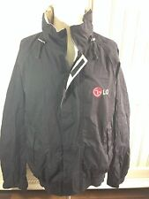 LG Corporation Cell Phones Windbreaker JACKET Verizon Sprint AT&T Black Sz L