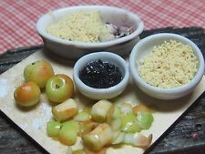 12th scale dollhouse dolls house food~Apple and backberry crumble ~ by redclegg