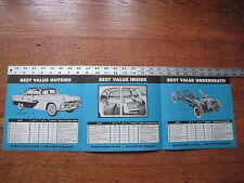 1956 Plymouth Belvedere, Suburban Dealers Brochure Literature Advertising Poster