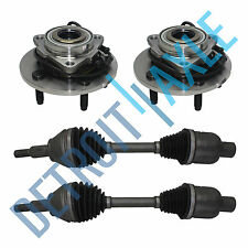 NEW 4pc Front Wheel Hub Assemblies & CV Axle Shafts Kit for Dodge Ram ABS 4x4