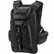 Icon Black Squad 3 Motorcycle Backpack #3517-0282