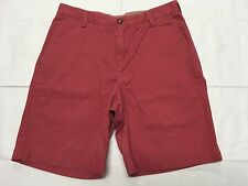 "IZOD OFF RED DARK SALMON CASUAL GOLF SHORTS HAND MEASURED 32 Tag ""33"" BEST SH486"