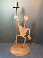 Rosemary Pozzi Franzetti Metal Art Sculpture Naked Dancing Man Candle Holder
