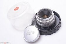 LEICA ORIGINAL SCREW LTM 35MM 2.8 SUMMARON '1960' 1M. W/ CAP & KEEPER.