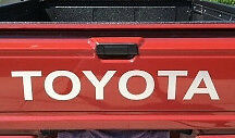 TOYOTA WHITE TAILGATE SPORT Decals Vinyl Stickers 1 truck bed FREE SHIPPING