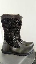 Kids PRIMIGI gray/black fabric short boots sz. 8.5 (EU 25)