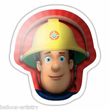 "23"" Red FIREMAN SAM Children's Birthday Party HEAD Foil Supershape Balloon"
