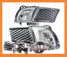 For 2010-2013 KIA Forte Sedan Fog Light Clear Front Lamps +Wiring Kit PAIR