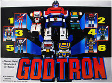GODTRON 1980'S SIX GOD COMBINATION GODMARS ROBOT FIGURE DIE CAST TAIWAN VERSION