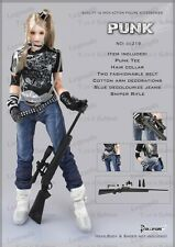 *Brand New* Dollsfigure 1:6 Punk Tee Decolorized Jeans w/Sniper Rifle *US Seller